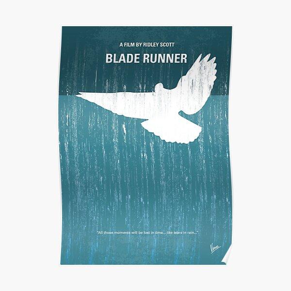 No011- Blade Runner minimal movie poster Poster