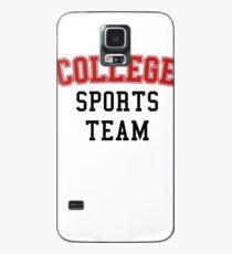 Go College Sports Team Red Case/Skin for Samsung Galaxy