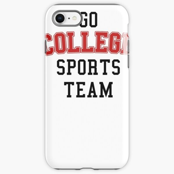 Go College Sports Team Red iPhone Tough Case