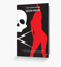 No018- DeathProof minimal movie poster Greeting Card