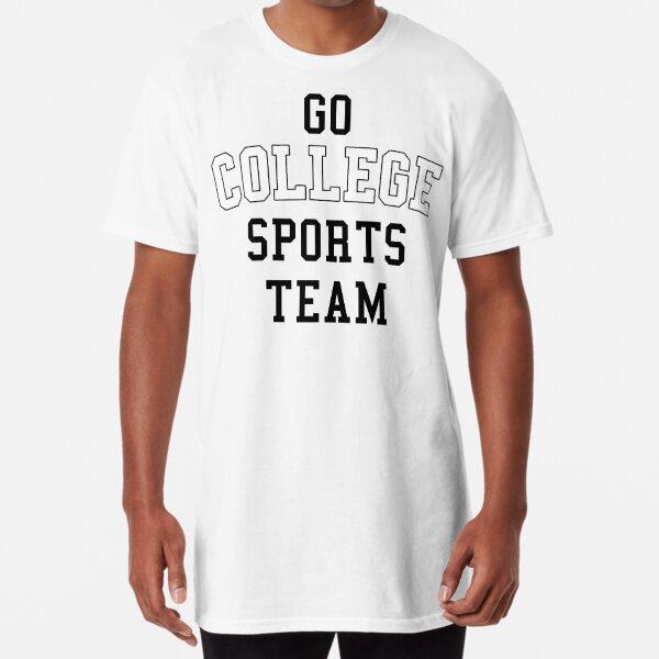 Go College Sports Team White Long T-Shirt