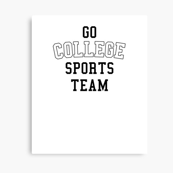 Go College Sports Team White Canvas Print