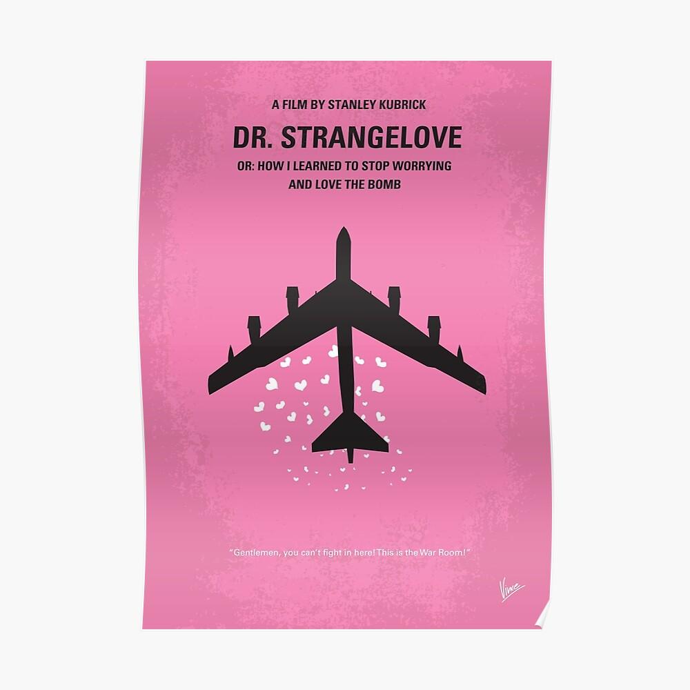 No025- Dr Strangelove minimales Filmplakat Poster