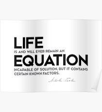 life equation - nikola tesla Poster