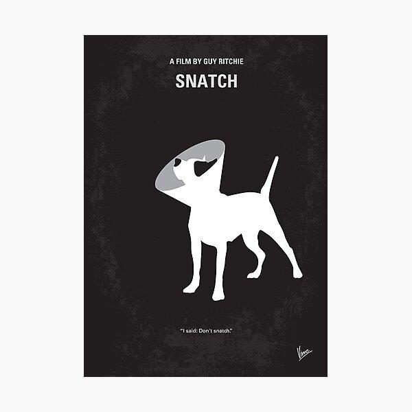 No079- Snatch minimal movie poster Photographic Print