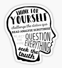 Think For Yourself Sticker