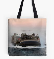 Landing Craft Air Cushion transits the Atlantic Ocean. Tote Bag