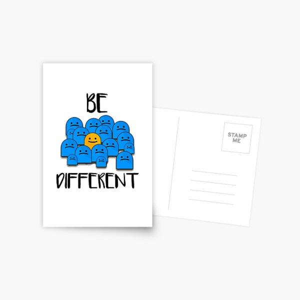 Be Different Postcard