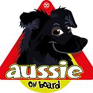 Aussie On Board - Black Tan by DoggyGraphics