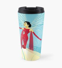 Lady in Red © hatgirl.de (Retro, Für Kinder, Feminin) Travel Mug