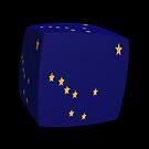 Alaskan flag cubed by stuwdamdorp