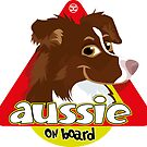 Aussie On Board - Brown White by DoggyGraphics