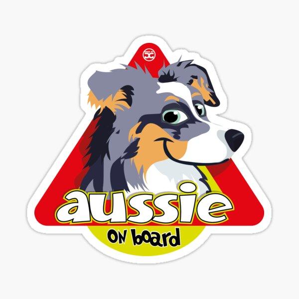 Aussie On Board - Ble Merle Tricolor Sticker