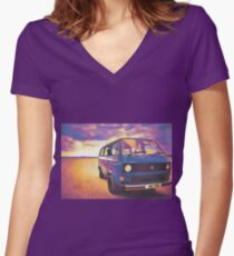 Total Women's Fitted V-Neck T-Shirt