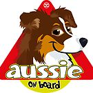Aussie On Board - Brown Tricolor by DoggyGraphics