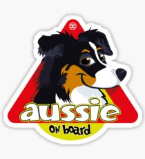 Aussie On Board - Black Tricolor Sticker