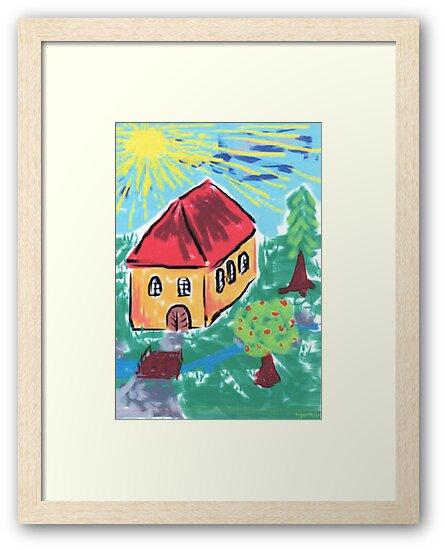 1409 - Haus am kleinen Bach im Sonnenschein by tigerthilo