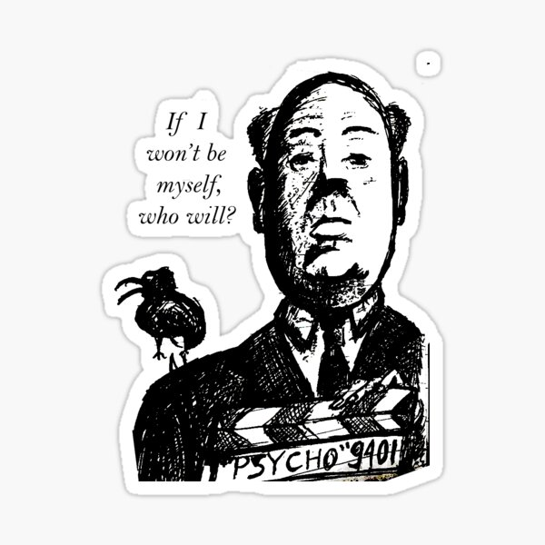 Hitchcock Sticker