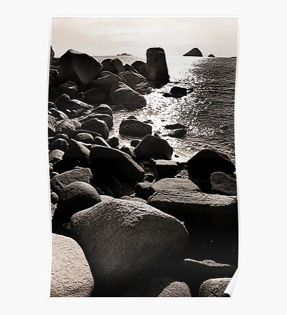 Rocky Seaside Poster