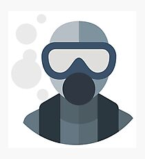 Underwater Diver Icon Photographic Print