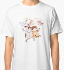 happy cat and dog couple Classic T-Shirt
