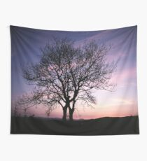 Two Trees embracing Wall Tapestry