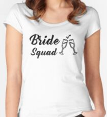 Bride Squad with Champagne Glass Women's Fitted Scoop T-Shirt
