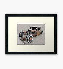 Old Awesome Rusty Car Framed Print