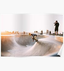 skateboard bowl grind hustle grunge collection Poster