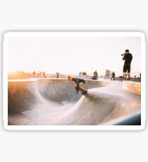 skateboard bowl grind hustle grunge collection Sticker