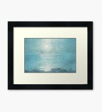 Moonlit sail Framed Print