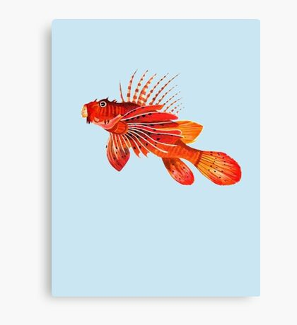 Lionfish Isolated Canvas Print