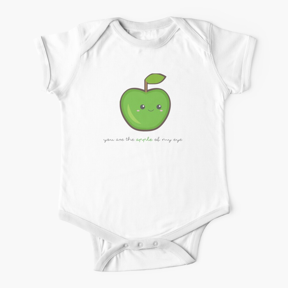 Fruit Puns - You are the apple of my eye Baby One-Piece