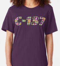 C-137 - Rick and Morty - C137 - Rick Sanchez - C137 - Psychedelic Trippy Dimension Fractal Slim Fit T-Shirt