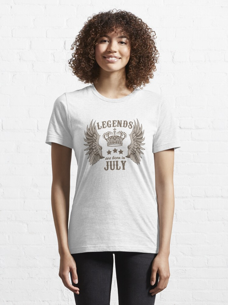 Alternate view of Legends Are Born In July Essential T-Shirt