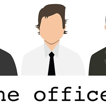 Jim, Dwight, Michael- The Office by hiledwards
