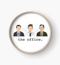 Jim, Dwight, Michael- The Office Clock