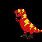 Skater Lightning T-Rex by jezkemp