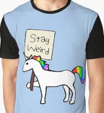 Stay Weird, Unicorn Graphic T-Shirt