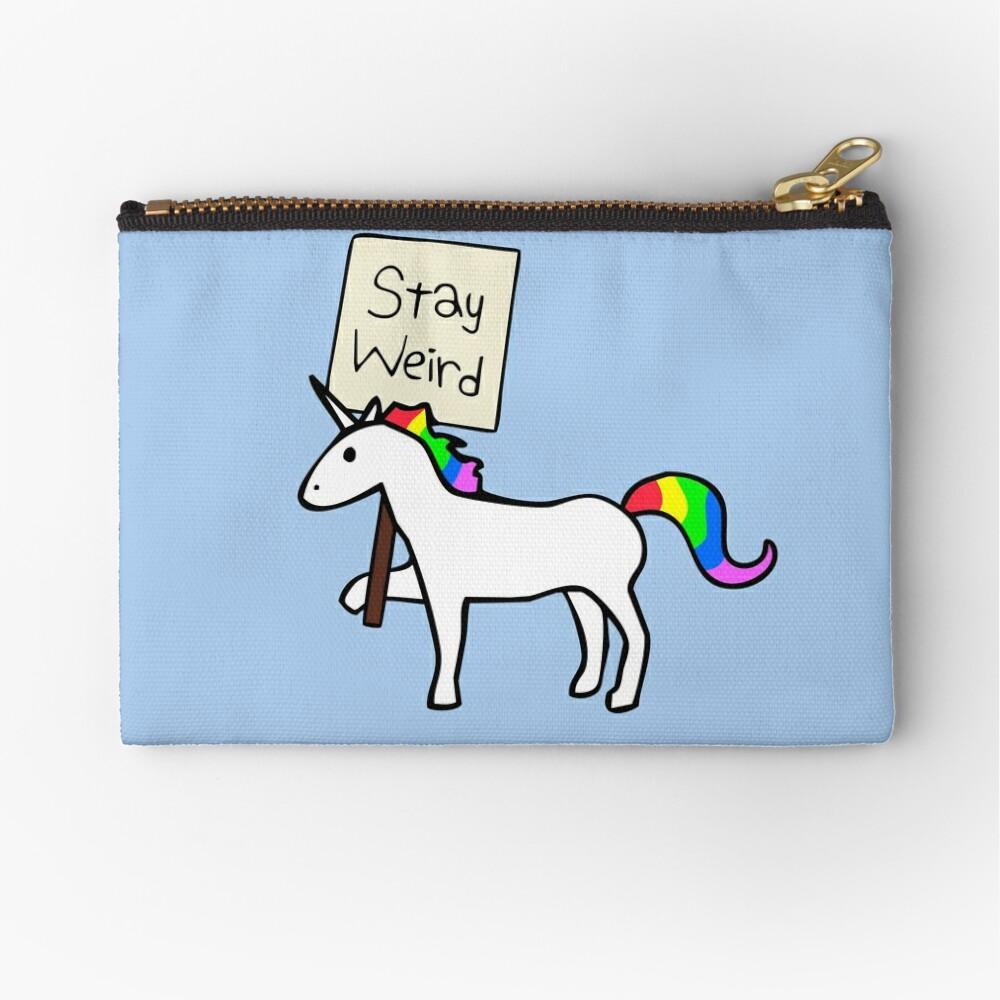 Stay Weird, Unicorn Zipper Pouch
