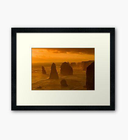 Twelve Apostles Sunset Framed Print