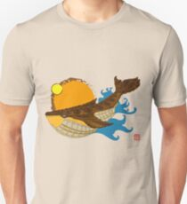 Whale 001 in Brown Unisex T-Shirt