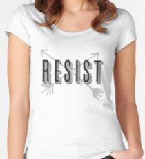 RESIST with arrows Women's Fitted Scoop T-Shirt