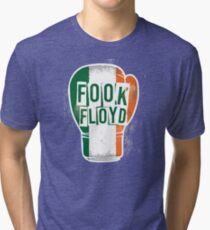FOOK FLOYD Conor McGregor Fan Boxing Glove Tri-blend T-Shirt