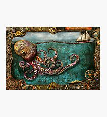 Steampunk - The tale of the Kraken Photographic Print