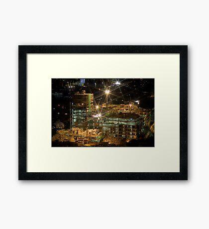 Night Construction Framed Print