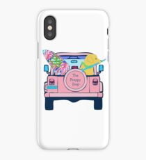 Preppy Pink Jeep Golden Retriever SUP Board iPhone Case/Skin