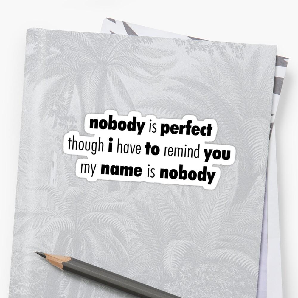 Nobody (Black) by hynek