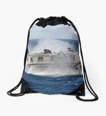 A landing craft air cushion transits the Atlantic Ocean. Drawstring Bag