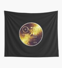 VOYAGER, Space, Golden Record, Spacecraft, Message to Aliens Wall Tapestry